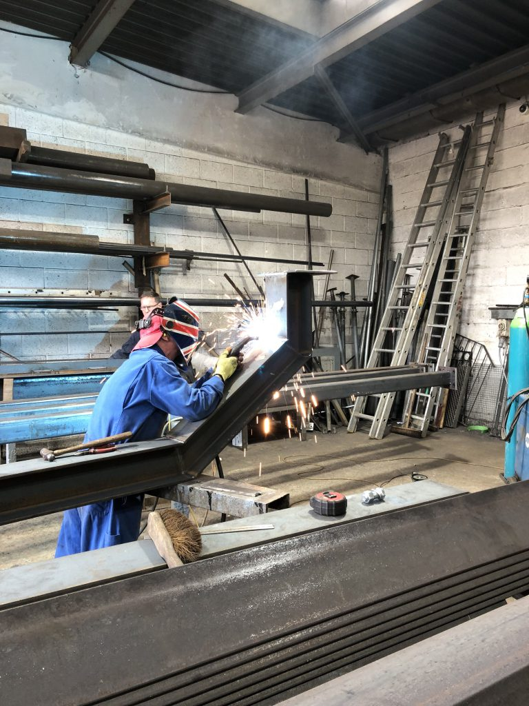 steel welding by steel erecting services mitcham